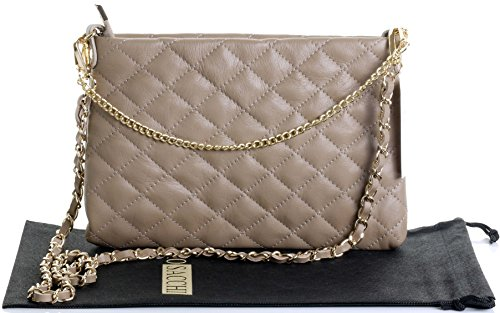 Strap Primo Beige Shoulder Bag Light Sacchi Italian Stylish Slim 2 Quilted Leather aR0Faw