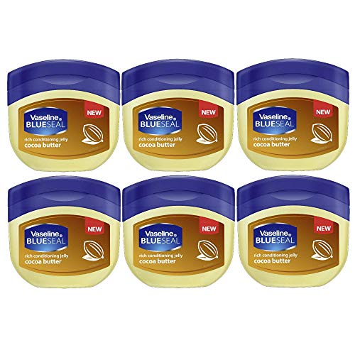 - Vaseline BlueSeal Petroleum Rich Conditioning Jelly, Cocoa Butter - 6 Pack x 1.75 Fl. Oz (50 ml) / Travel Size