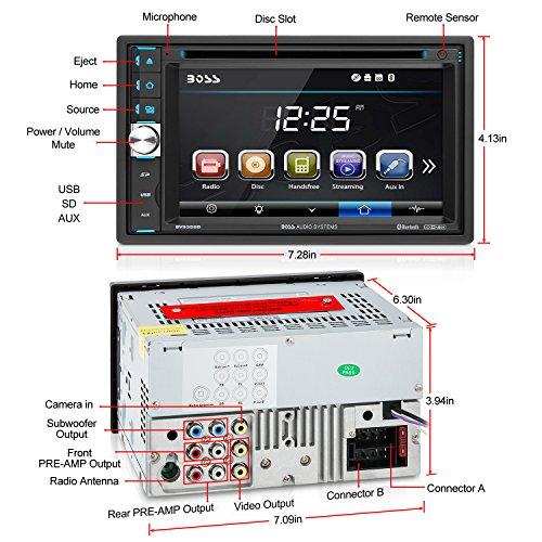 517dKtEtXhL - BOSS Audio BV9358B Double Din, Touchscreen, Bluetooth, DVD/CD/MP3/USB/SD AM/FM Car Stereo, 6.2 Inch Digital LCD Monitor, Wireless Remote