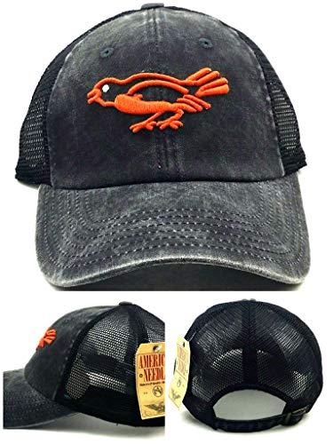 Baltimore Orioles Black Leather - American Needle Baltimore Orioles New Vintage Black Orange Mesh Era Dad Hat Cap
