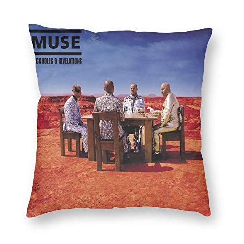 Joyce M Hunter Muse Black Holes and Revelations Music Theme Pillowcase,a Variety of Sizes to Choose from,Home Decor Pillowcase,Cushion Cover,Comfortable and Durable,Square Pillowcase