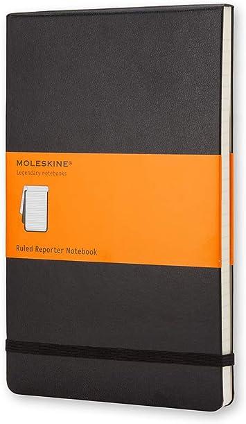 Moleskine - Cuaderno Clásico con Páginas Rayadas, Tapa Dura y Goma Elástica, Color Negro, Tama...