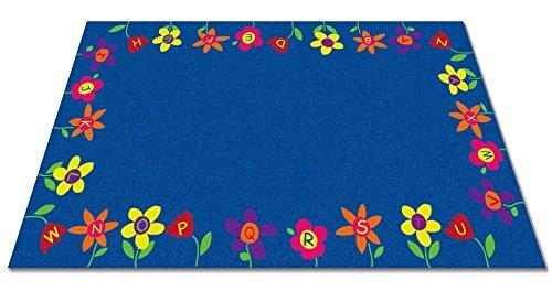Kid Carpet FE791-34A Alphabet Garden School Nylon Area Rug 6' x 8'6 Multicolored [並行輸入品] B07HLDVT8B