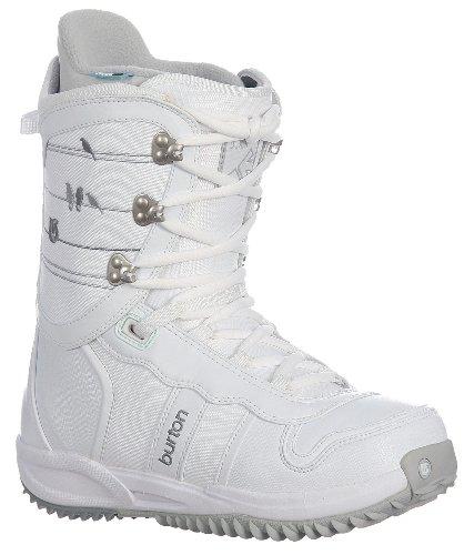 Burton Lodi Snowboard Boots White/Lt Grey Womens Sz 5