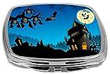 Rikki Knight Compact Mirror, Happy Halloween Haunted House Hanging Bats