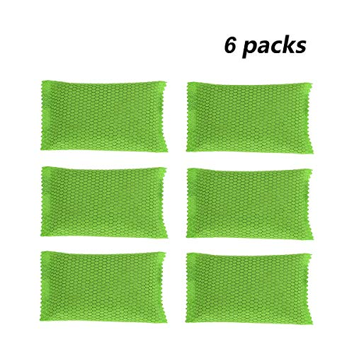 DAPENG Air Purifying,Bamboo Charcoal Air Freshener Odor Eliminator Bag,Air Filter Purifier Fridge,Freezers,Cars,Closet,Shoes,Kitchens,Basements,Bedrooms,Living Areas (Green (6 Pack))