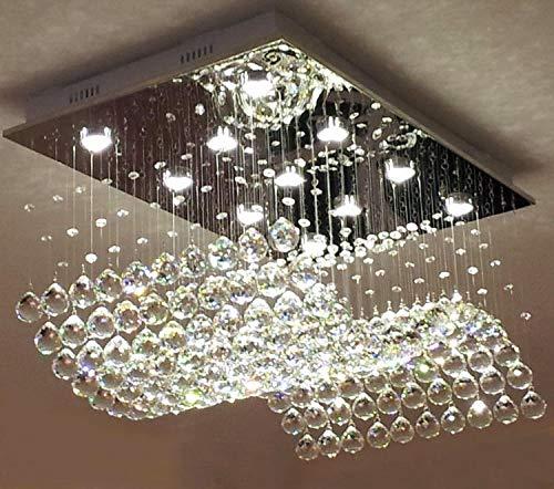 rectangular flush mount ceiling light large moooni contemporary rectangle crystal chandelier modern rain drop wave lighting rectangular flush mount ceiling