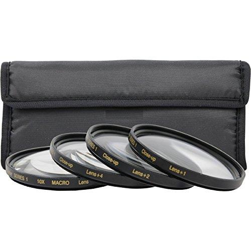 Power^UP 58 mm Close-Up Makrolinsen Nahlinsen 4-Stück-Filterset für Makrofotografie - Inklusive +1 +2 +4 +10 - und Filtertasche für Canon EOS 1D, 5D, 6D, 7D, Mark II, III, 10D, 20D, 30D, 40D, 50D, 60D, 70D, 100D, 300D, 350D, 400D, 450D, 500D, 550D, 600D, 650D, 700D, 1000D, 1100D & 1200D SLR-Digitalkamera