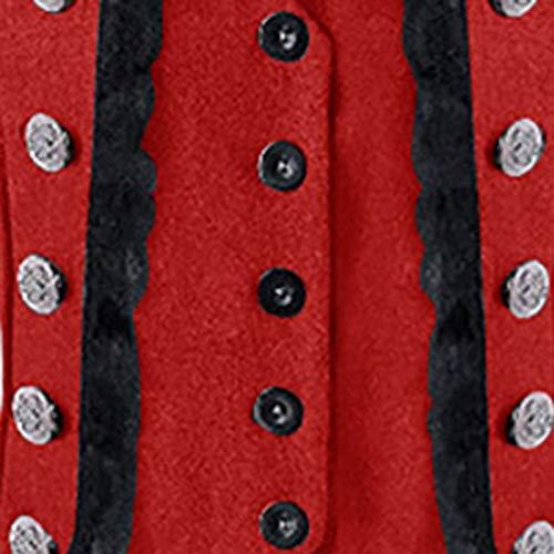 Vintage Frock Fracotto Vino Uniforme Cappotto Rosso Tinta Smoking Uomo Capispalla Steampunk Unita Da In gBpanX