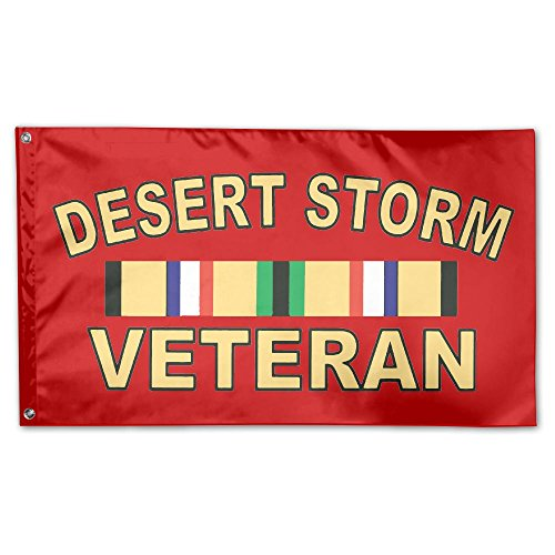 PAOMEHAW Iraq Desert Storm Veteran Family Flag Garden Flag Party Flag 100% Polyester Fiber Indoor Flag