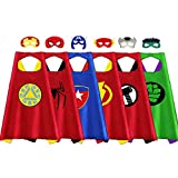 Outdoor Toys for Toddlers Age 3-5 - Party Favor for Kids, Treasure Store Superhero Dress up Costumes Toys for 3-7 Year Old Boys Gifts for 3-7 Year Old Boys Girls Toddlers Costumes Party Supplies 6 Pcs