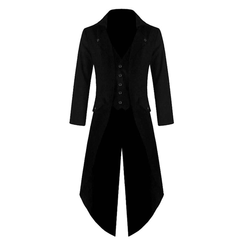 Amazon.com: Chaqueta de abrigo para hombre, estilo punk ...