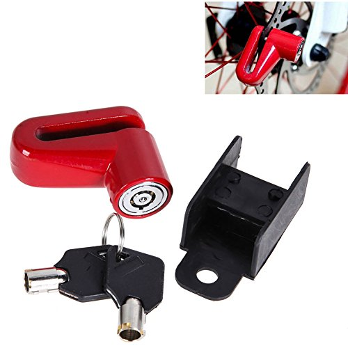 FYL Scooter Bike Bicycle Motorcycle Safety Anti-theft Disk Disc Brake Rotor Lock Red