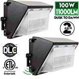 LED Wall Pack with Photocell 100W Dusk to Dawn