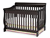 Dark Brown Crib with Changing Table Delta Children Canton 4-in-1 Convertible Baby Crib, Dark Chocolate