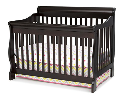 Delta Children Canton 4-in-1 Convertible Baby Crib, Dark Chocolate - Delta Baby Products Toddler Bed