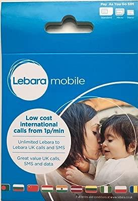 Lebara 3 G internacional Pay as you go SIM tarjeta (Micro, Nano ...