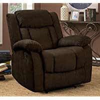 Pearington Keansburg Microfiber Living Room Recliner Chair, Chocolate