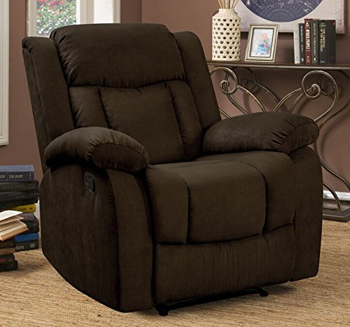 Pearington Keansburg Microfiber Living Room Recliner Chair, Chocolate by Pearington