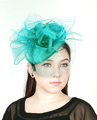 NYFASHION101 Cocktail Fashion Sinamay Fascinator Hat Flow...