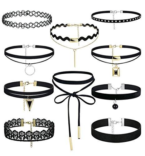 FIBO STEEL 8 10PCS Womens Necklace