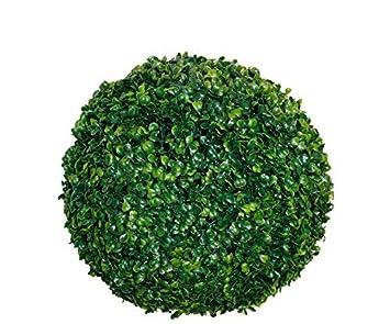 Spetebo Buchsbaumkugel grün - Ø 20 cm - Garten Deko Buchsbaum Kugel künstlich Buchskugel