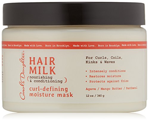 Curly Hair Products by Carols Daughter, Hair Milk Curl Defining Moisture Mask For Curls, Coils and Waves, with Agave, Hair Mask For Curly Hair, 12 oz (Packaging May Vary)