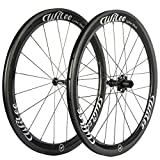 Wilee Bike Carbon Fiber Road Bike Wheels 700C 50mm Glossy 23 width Clincher Carbon Wheelset