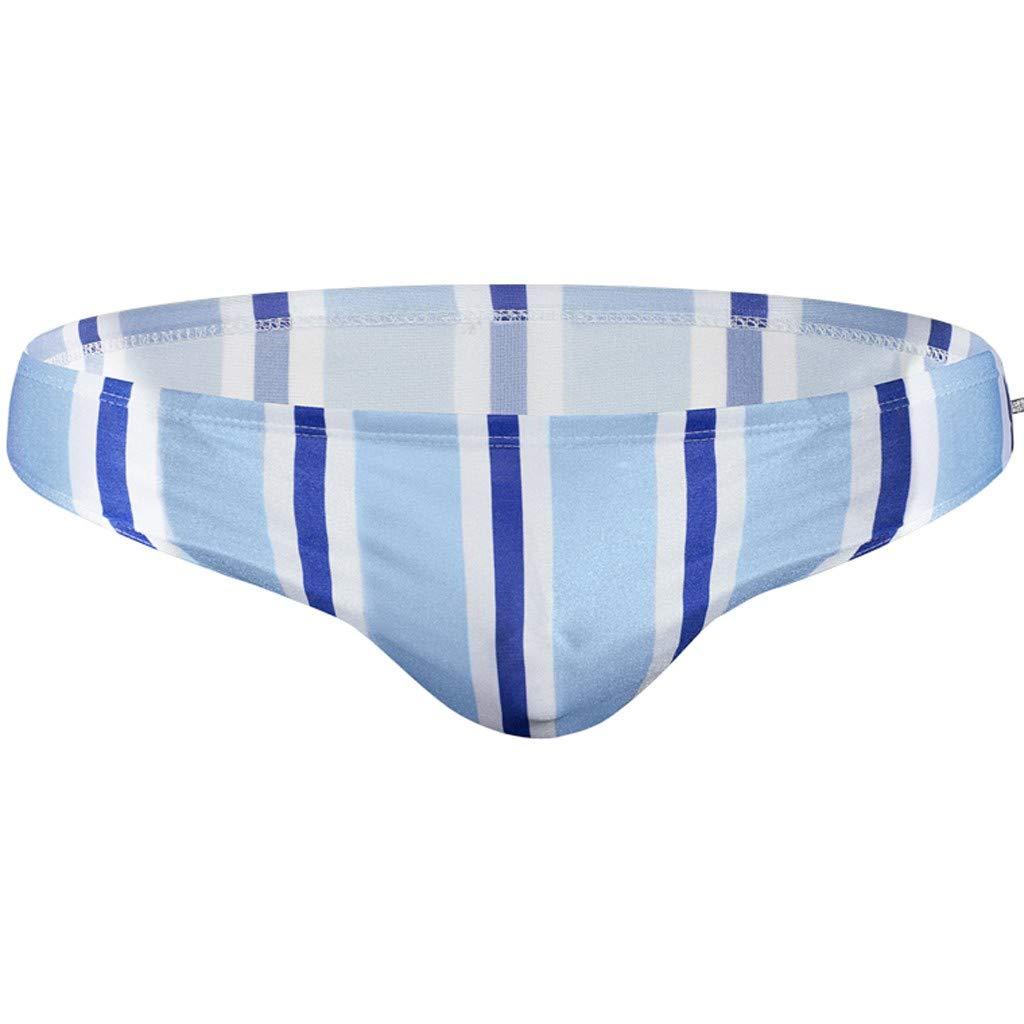 Mens Youth Swimwear Trunks,Fxbar Fashion Breathable Men Bathing Suit Breathable Striped Beach Shorts Bikinis