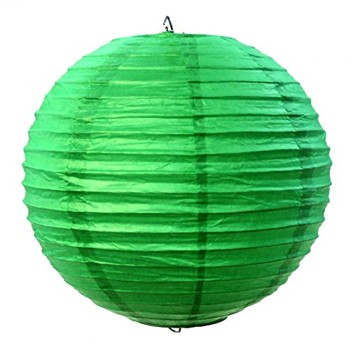 Koyal-Wholesale-Paper-Lantern-14-Inch-Kelly-Green-Set-of-6