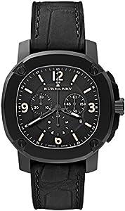 Swiss The BRITAIN LumiNova Black Alligator Leather Burberry Men Luxurious Black Chronograph Watch BBY1103