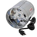 Hon&Guan 100CFM Air Duct Fan Low Noise Inline Booster Fan for Kitchen & Bathroom(4Inch)