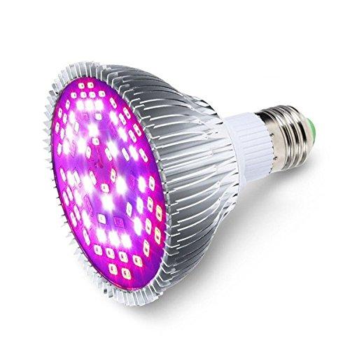 Hitommy E27 30W 40 LED Full Spectrum Grow Light Lamp Blub for Flower Plants Hydroponics Vegetables AC85-265V