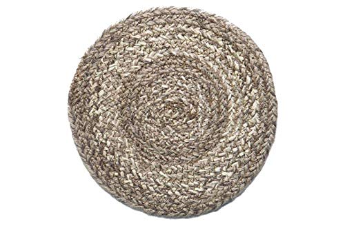 Braided Round Trivets - IHF Home Decor Table Trivets Rug for Kitchen, Dinner Tables, Bar Drink, Living Room, Bathroom | 100% Natural Braided Area Trivet - Round Shaped | Ashwood - Jute Fiber Circle Rugs 8