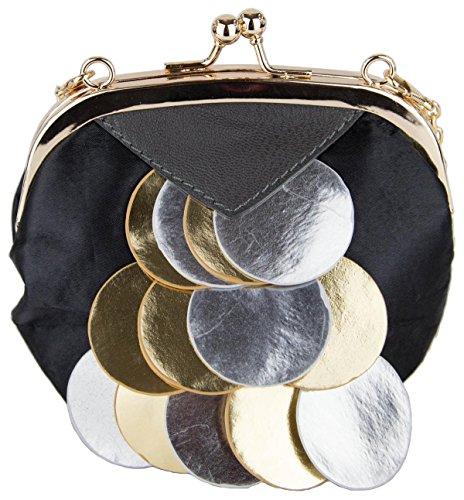 Damen Handtasche Umhängetasche Modell Eule schwarz