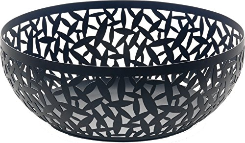 """Alessi MSA04/29 B""""CACTUS!"""" Fruit Holder in Steel Coloured With Epoxy Resin, Black"""