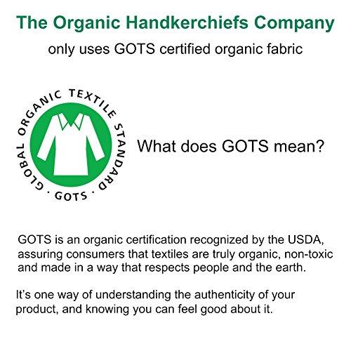 "Organic Handkerchiefs Womens Cotton Set - 8"" small white hankies 3 pk Made in US by The Organic Handkerchiefs Company (Image #6)"
