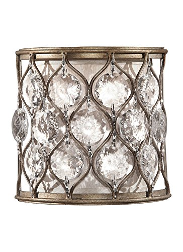 Lucia 1 Light (Murray Feiss WB1497BUS, Lucia Sconce, 1 Light, 60 Watts, Burnished Silver)
