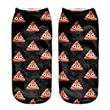 3D Sock Poop Emoji Heart Cartoon Animal Print For Woman Man Boy Girl Free Size