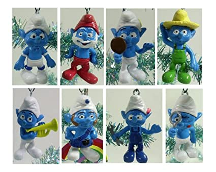 Unique Set of 13 Smurfs Christmas Tree Ornaments Featuring Papa Smurf,  Brainy Smurf, Farmer - Amazon.com: Unique Set Of 13 Smurfs Christmas Tree Ornaments