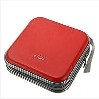 unicoco CD bolsa de almacenamiento funda de transporte portátil coche oficina de viaje rojo rosso 16