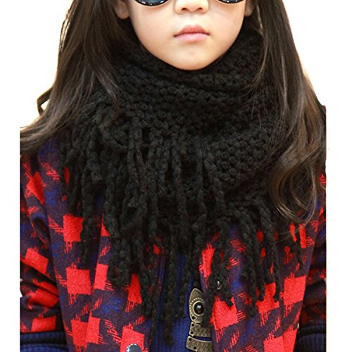(Eforstore Unisex Baby Infant Kids Toddler Boys Girls Warmer Fall Winter Thick Knit Wool Soft Infinity Scarf Neck Long Scarf Shawl)