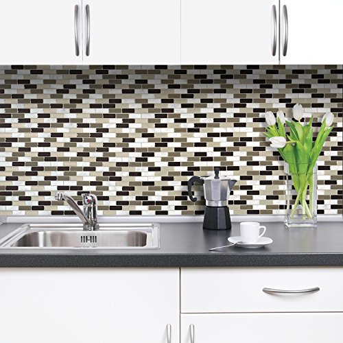 (Smart Tiles Peel and Stick Backsplash and Wall Tile Murano Stone (Pack of 4))