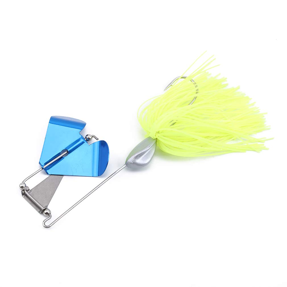 Meoliny Gear Sequins Metal Rotating Lure Simple Fishing Bait Composite Fishing Hook Tool,Fluorescent Yellow