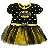 Batgirl Infant Toddler Girls' Costume Tutu Dress Black and Yellow