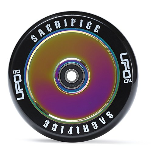 Sacrifice Wheels UFO 110mm Stunt Scooter Rolle + Fantic26 Sticker (Neo Chrome)
