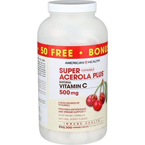 American Health Acer.Plus 500mg SPR Acerola Cherry Vitamin C