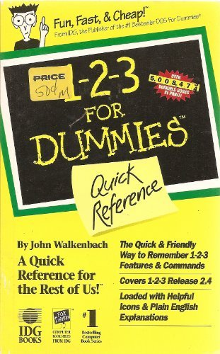 1-2-3 For Dummies Quick Reference (For Dummies Computer Book)