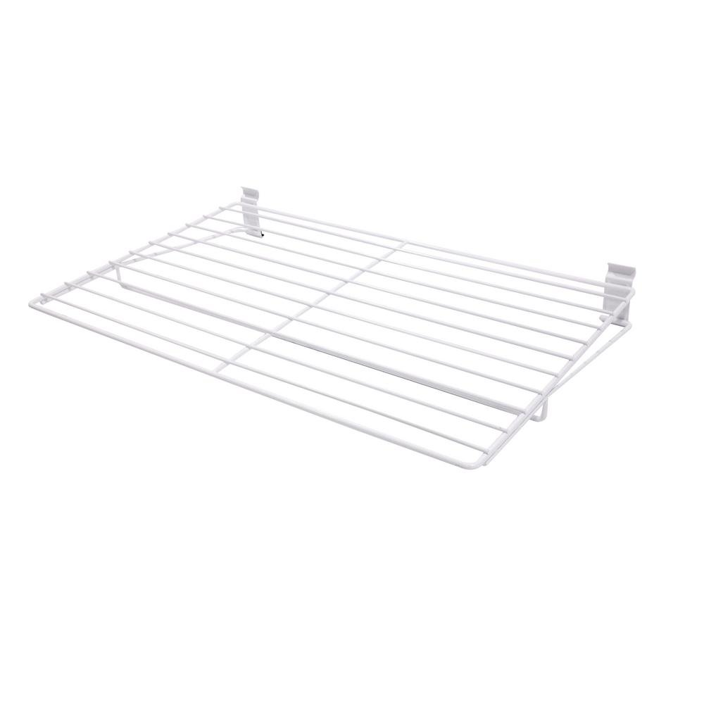 WallTech 3.5 in. x 27.5 in. White Steel Extra Large All Purpose Shelf Bracket for Wire Shelving