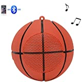 Mini Bluetooth Wireless Speaker Creative Basket Ball Shape Speaker Hands-Free Call with Super Bass for Outdoor Travel Cycling (Basketball)
